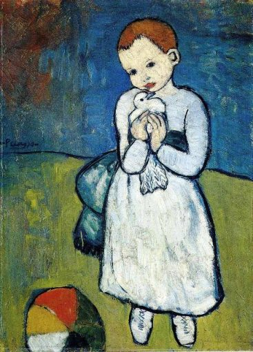 child-with-dove-1901- Abstract painting, Animal paintings, Children painting, Cubism, Pablo Picasso