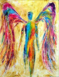 تابلو نقاشی مدرن بسیار زیبا-Angel1