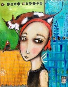 تابلو نقاشی مدرن- Doll Lulla