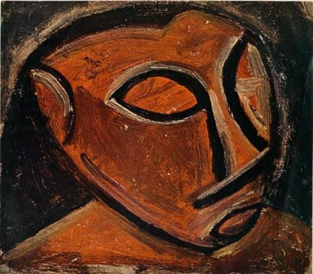 head-of-a-man-1908-2- Abstract painting, Man Painting, Cubism, Pablo Picasso
