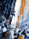 تابلو نقاشی مدرن نمای شهر
