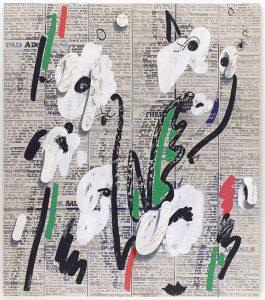 تابلو نقاشی مدرن روزنامه ای