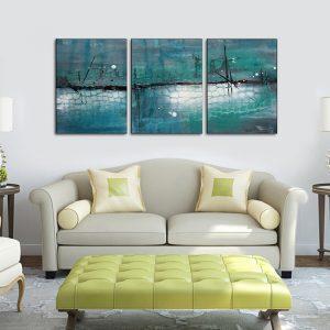 تابلو سه تکه نقاشی آبستره 1