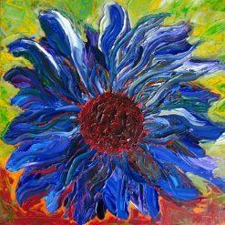 تابلو نقاشی مدرن-نقاشی فوق العاده زیبا از گل آفتابگردان1