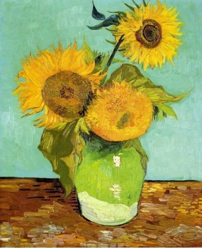 sunflowers-1888- Still life painting, Flower paintings, Post-Impressionism, Vincent van Gogh