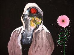 تابلو نقاشی مدرن -Universe in the face
