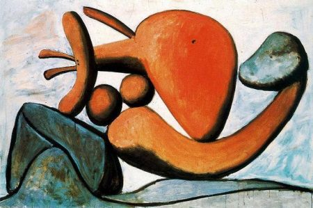 young-girl-throwing-a-rock-1931- Abstract painting, Woman Painting, Cubism, Popular paintings, Pablo Picasso